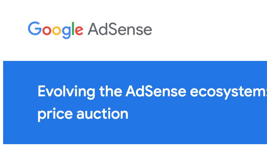 adsense first-price auction